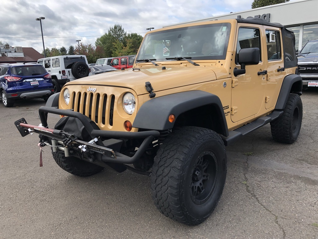 Jeep Wrangler Rims And Tire Packages >> Pre Owned 2013 Jeep Wrangler Unlimited Sport Lifted Custom Wheels Big Tires Winch