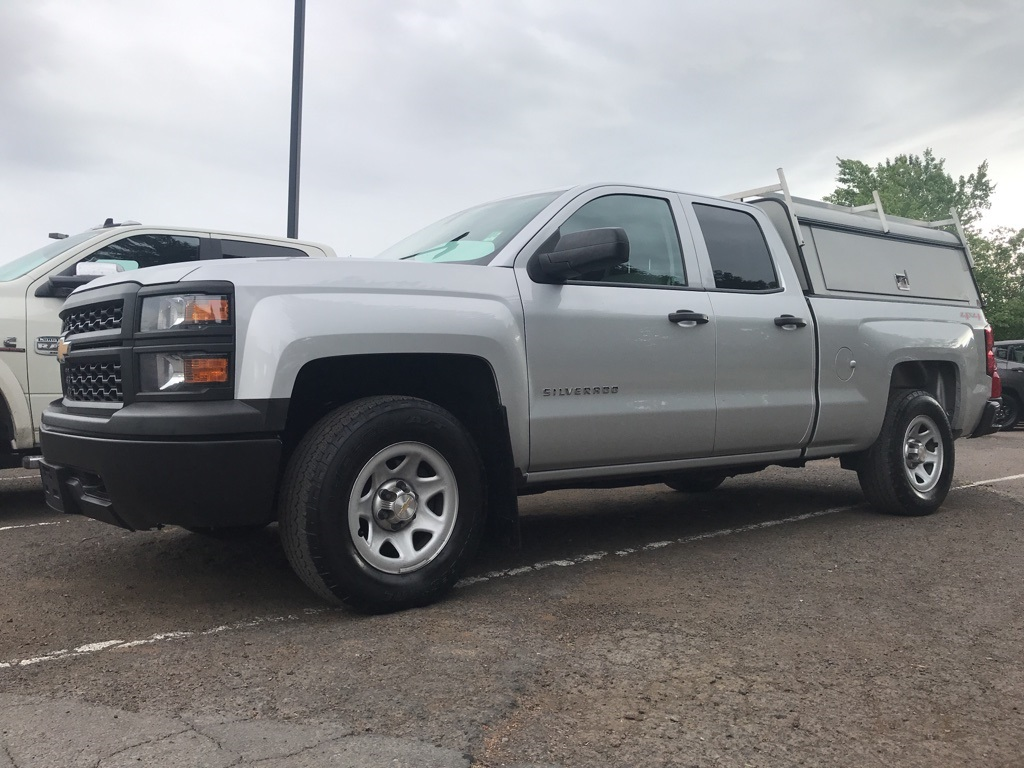 Pre-Owned 2014 Chevrolet Silverado 1500 Work Truck Clean Carfax, Service Canopy, Rack!