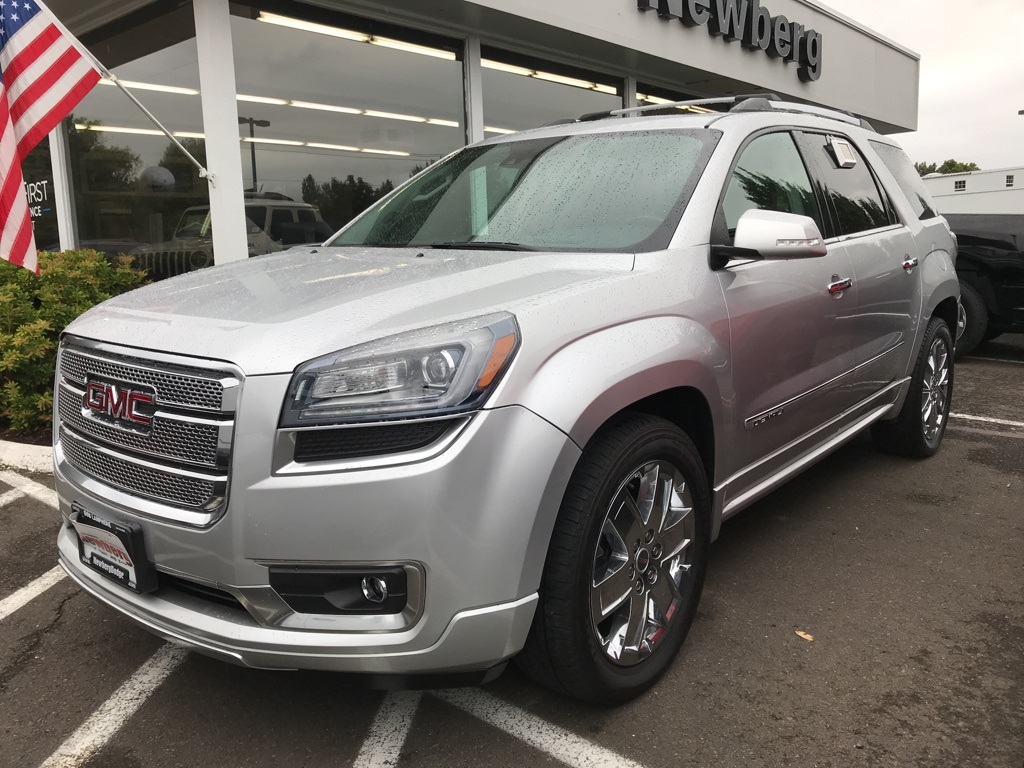Pre-Owned 2015 GMC Acadia Denali AWD, 1-Owner, DVD, Navigation, 2 Sunroofs